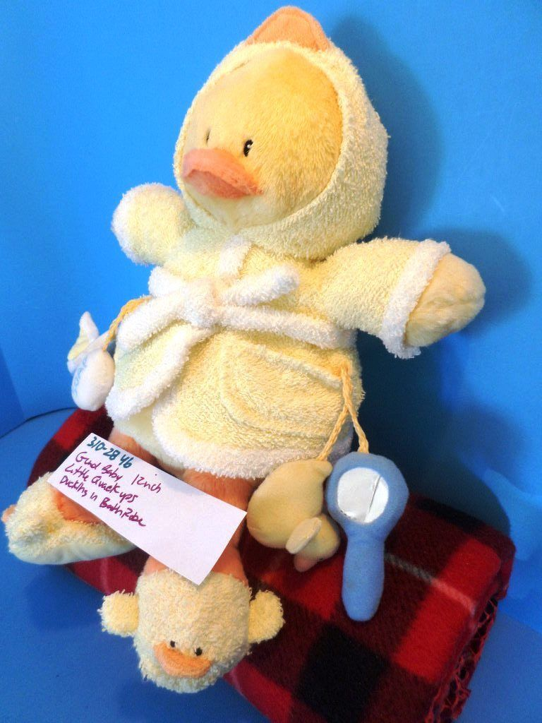 Baby Gund Little Quack Ups Yellow Duckling in Bath Robe Plush