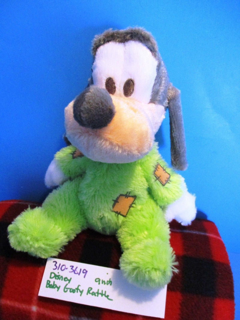 Disney Parks Baby Goofy in Green Pajamas Rattle Plush