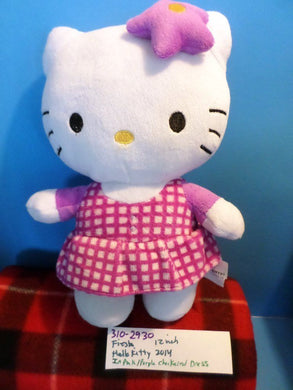 Fiesta Hello Kitty in Pink Checkered Dress 2014 Plush