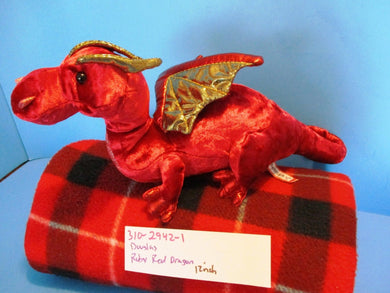 Douglas Ruby Red the Dragon Plush