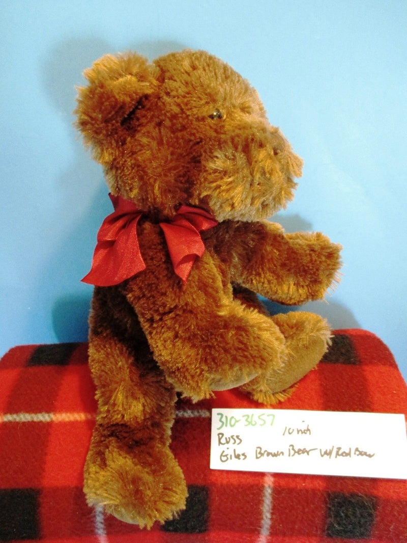 Russ Giles Brown Teddy Bear Beanbag Plush