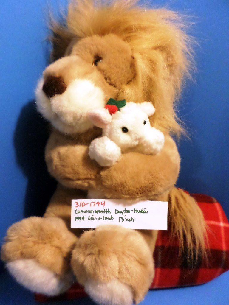 Commonwealth Dayton-Hudson The Lion and the Lamb 1994 Plush