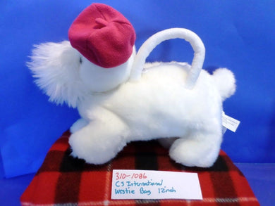 C S International West Highland Terrier(Westie) with pink hat bag(310-1086)