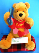 Disney Store Valentine Pooh with Heart and Scissors Plush