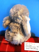Dan Dee Collectors Choice Grey and White Bunny Rabbit Plush
