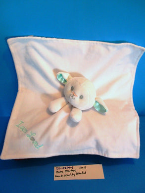 Baby Starters White and Green Lamb I Am Loved Security Blanket