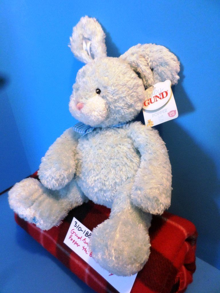 Baby Gund My First Easter Popper the Blue Bunny Rabbit Plush