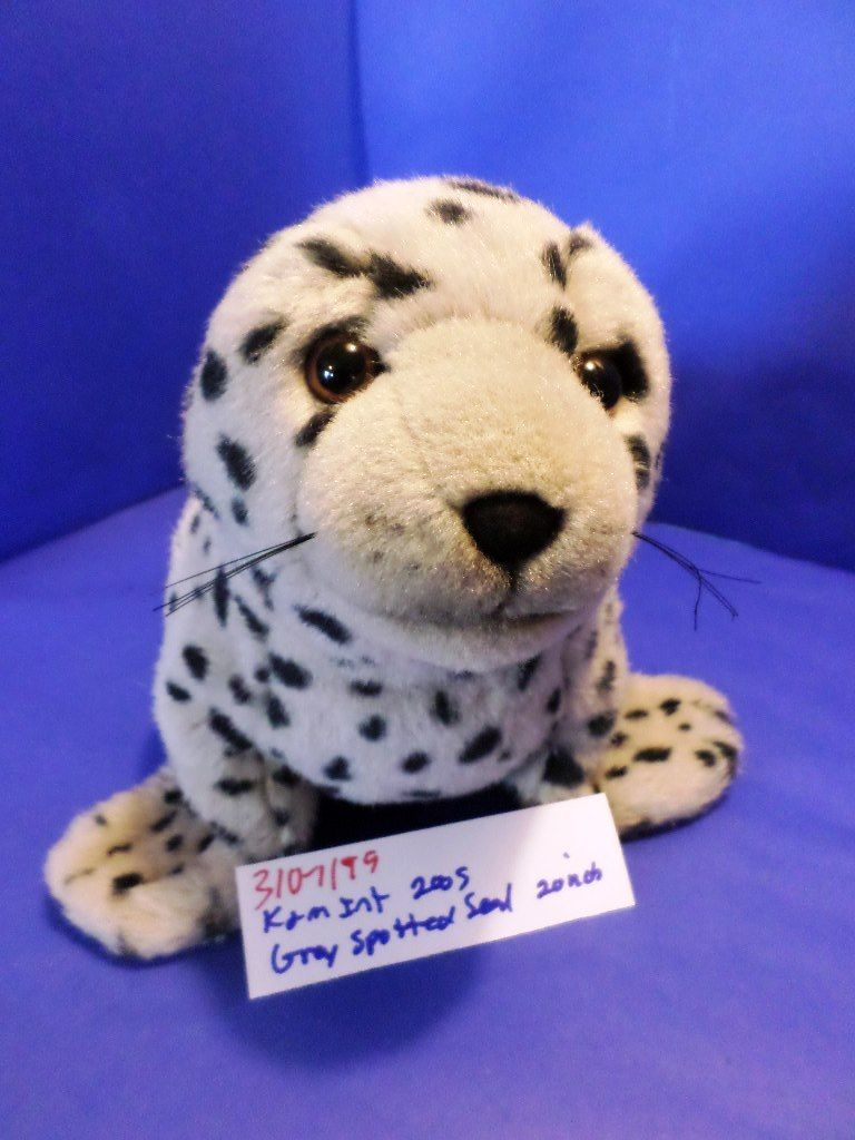 K & M Grey Spotted Seal 2005 Beanbag Plush