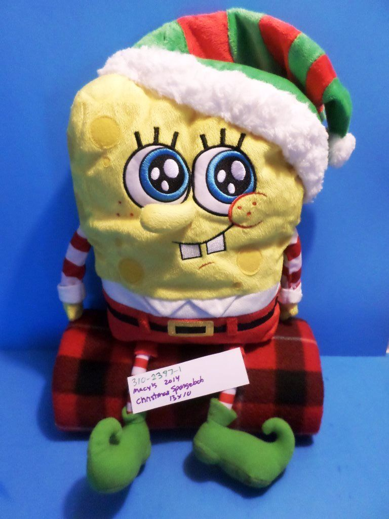 Macy's Christmas Spongebob Elf 2014 Plush