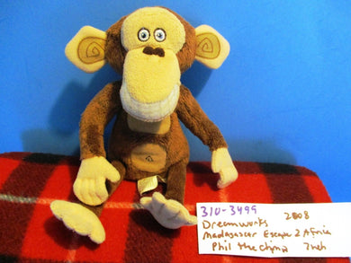 DreamWorks Madagascar Escape 2 Africa Phil the Chimp 2008 Plush
