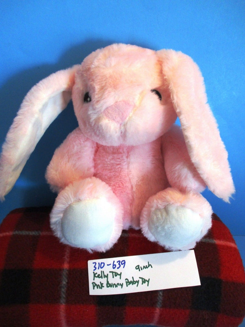 Kellytoy K. Luxe Pink Bunny Rabbit Rattle Plush