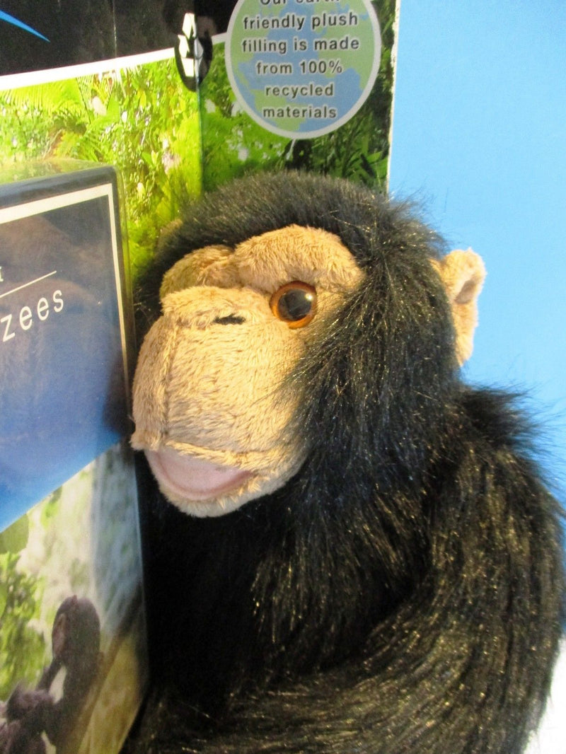 BBC Earth Planet Earth Chimp All About Chimpanzees 2009 Plush and DVD