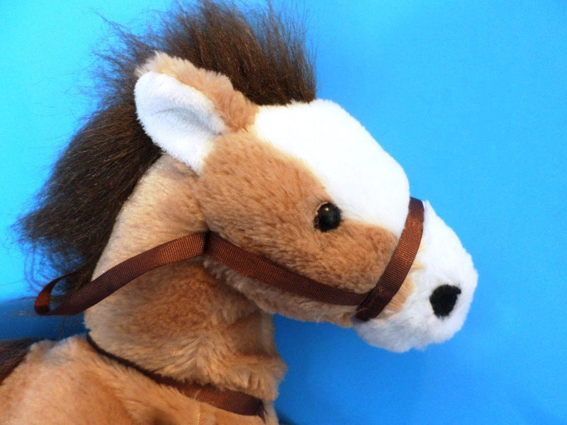 Hugfun Brown and White Horse Pony With Saddle Plush