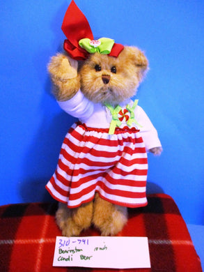 The Bearington Collection Candi the Peppermint Candy Bear Plush