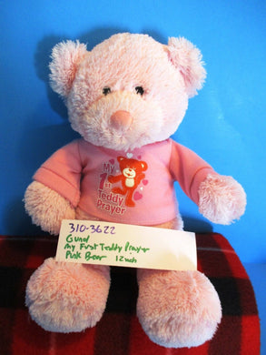 Gund My First Teddy Prayer Pink Bear plush(310-3622)