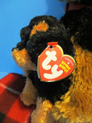 Ty Classic 2014 and Baby 2011 Brutus the Rottweiler Beanbag Plushes