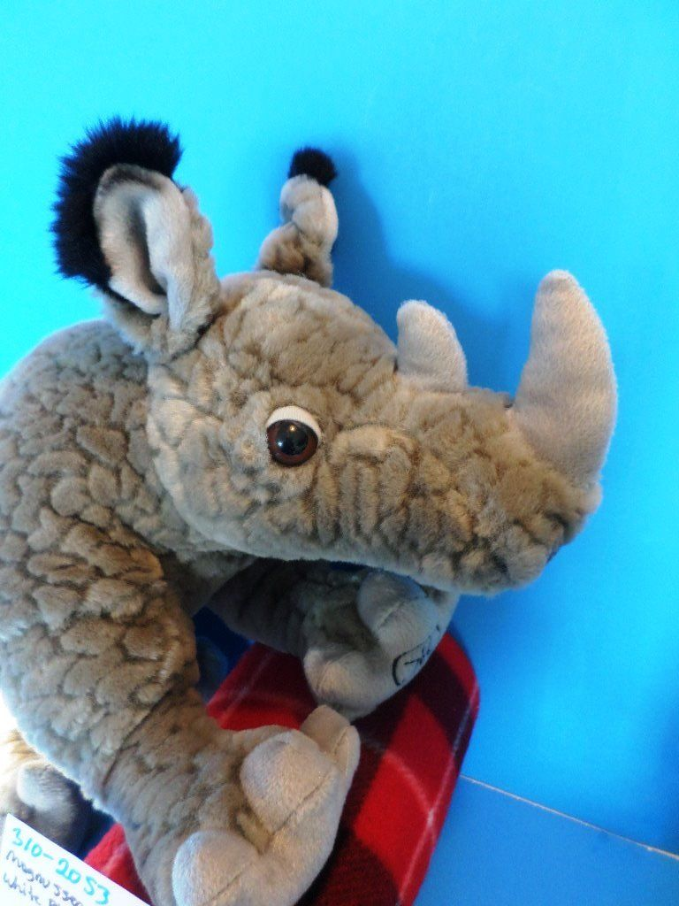 Magnussen Home White Rhino Plush