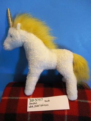 Douglas White and Gold Unicorn Plush