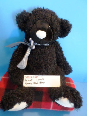 Gund Newsy the Black Teddy Bear with a White Nose plush(310-2720)