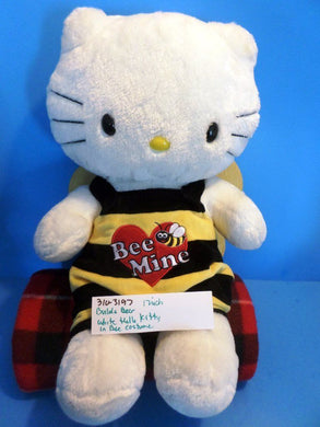 Build-a-Bear White Hello Kitty in Bee Costume Plush