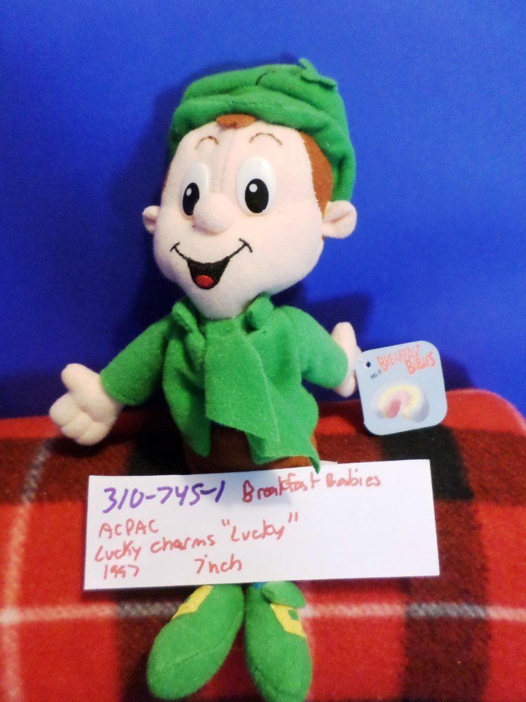 General Mills Breakfast Babies Lucky Charms Lucky 1997 Plush