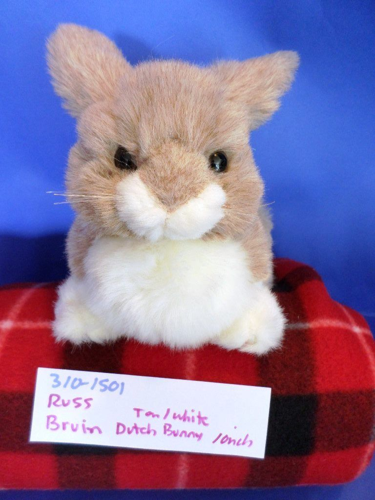 Russ Bruin Tan and White Dutch Bunny Rabbit Plush