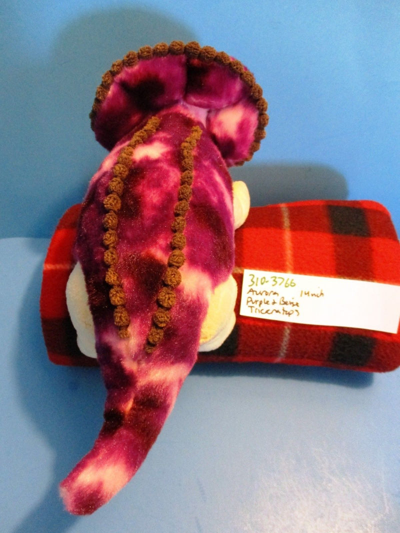 Aurora Purple and Beige Triceratops Plush
