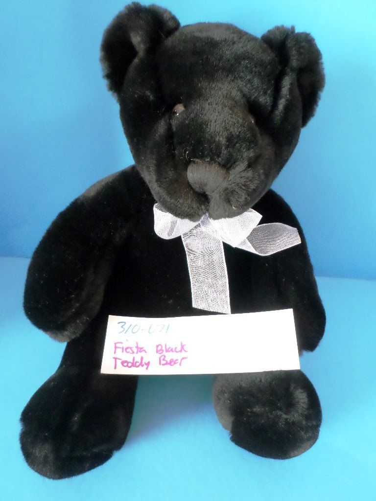 Fiesta Black Teddy Bear Plush