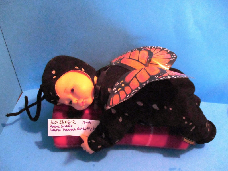 Anne Geddes Large Monarch Butterfly Baby Beanbag Plush