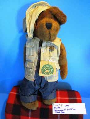 Boyd's Hemingway K. Grizzman Fishing Bear 1999 Plush