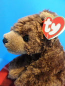 Ty Classic Cocoa Brown Bear 1996 Beanbag Plush