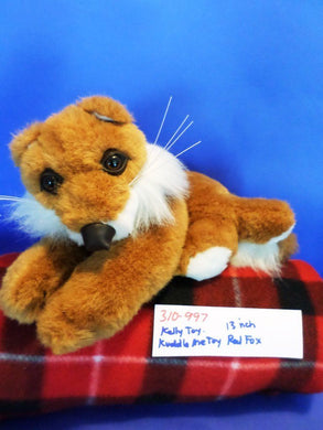 Kelly Toy ,Kuddle Me Toy Laying down Red Fox plush(310-997)
