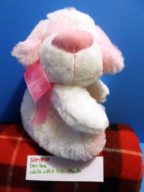 Dan Dee Collectors Choice White and Pink Dog plush(310-1810)