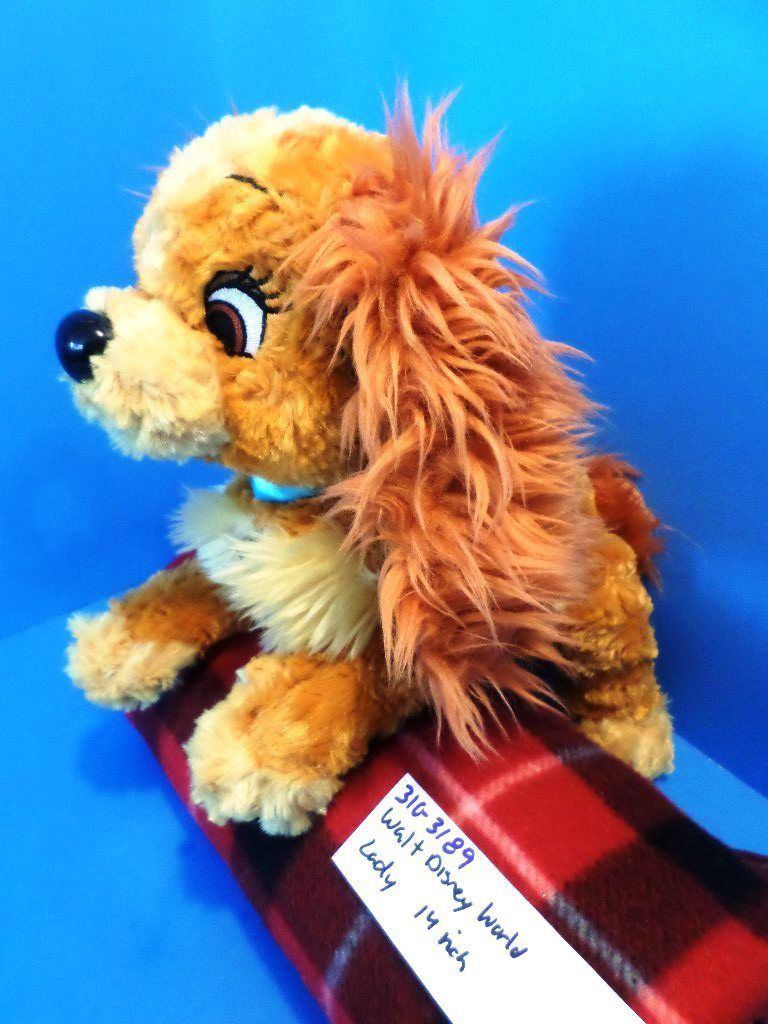 Disney World Lady and the Tramp Lady Beanbag Plush