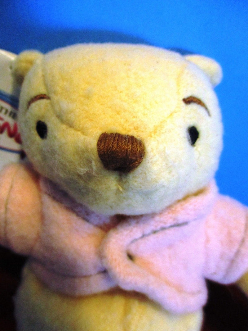 Disney Store Classic Pooh in Pink Sweater Beanbag Plush