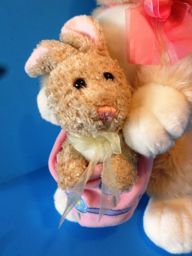 E & J Classics Tan Bunny Rabbit with Basket Plush