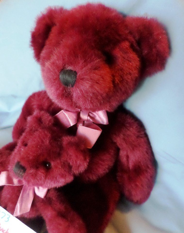 Russ Rhapsody Burgundy Teddy Bear Plushes