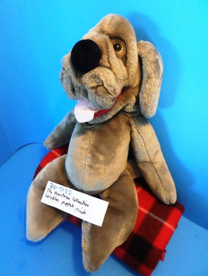 Ganz The Heritage Collection Wrinkles Brown Hound Dog puppet plush (310-3132)