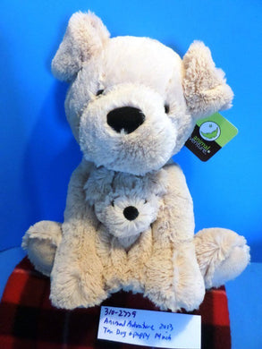 Animal Adventure Tan Dog and Puppy 2013 Plush