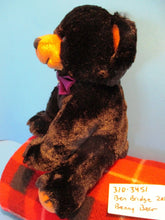 Ben Bridge Benny the Black Bear With Purple Bow 2015 beanbag plush(310-3451)
