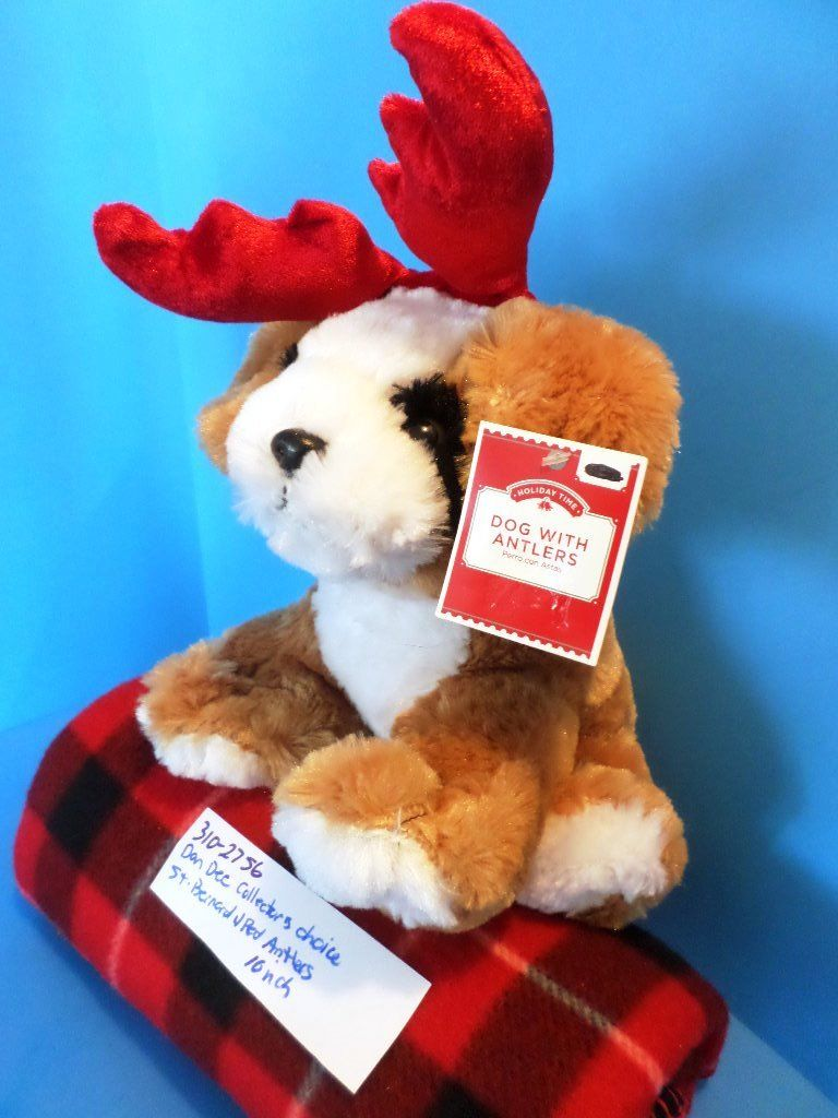 Dan Dee Collectors Choice Saint Bernard With Red Antlers Plush
