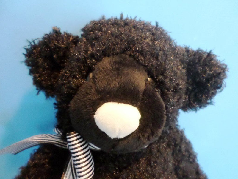 Gund Newsy the Black Teddy Bear with White Nose Plush