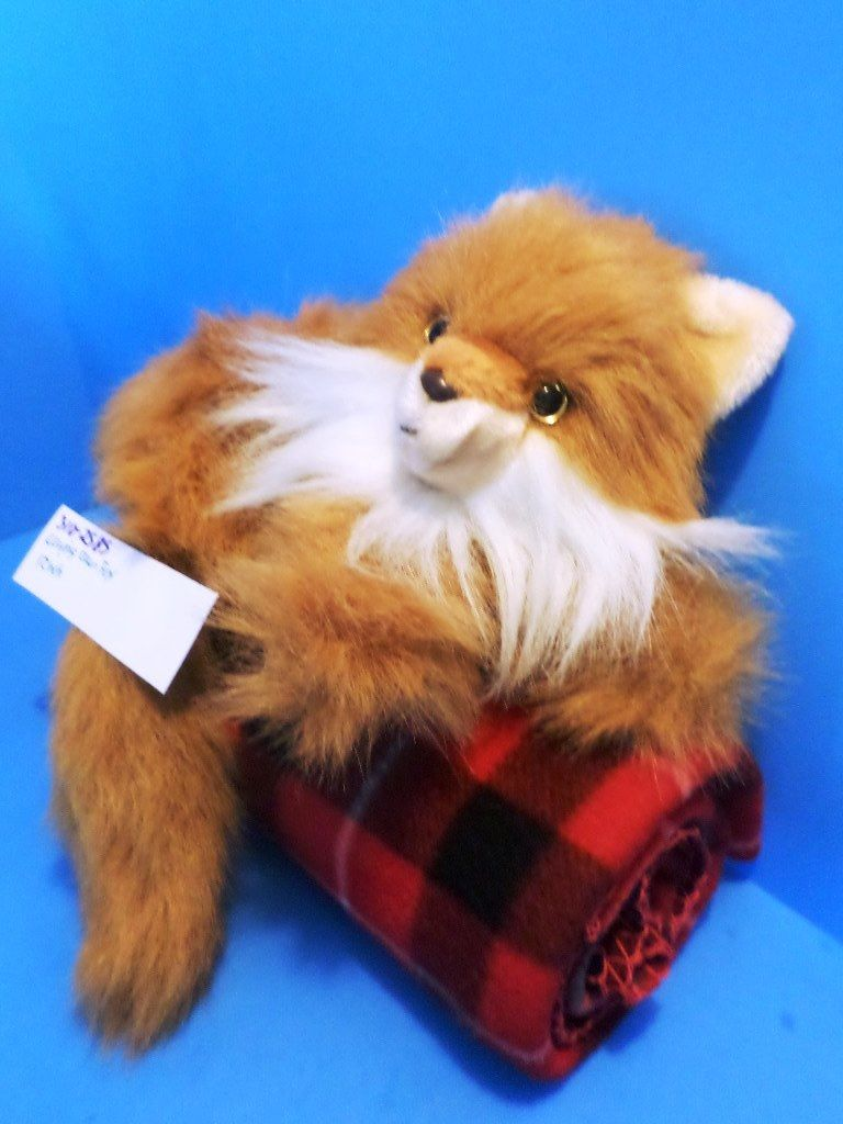 Red Fox Laying Down Plush