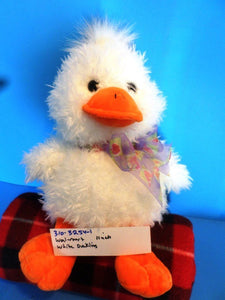 Wal-Mart White Duckling With Purple Bow Beanbag Plush