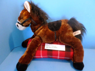 Hugfun Brown and White Horse Pony with Saddle plush(310-2400)