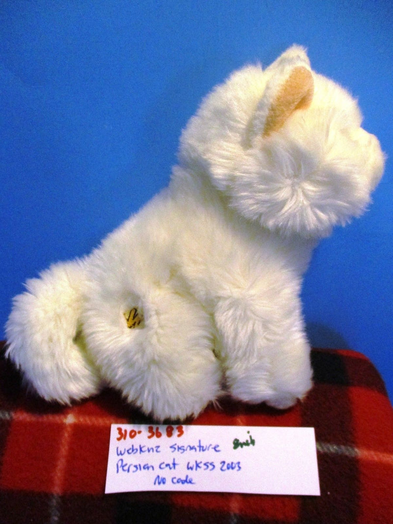 Ganz Webkinz Signature White Persian Cat WKSS2003 Plush (No Code)