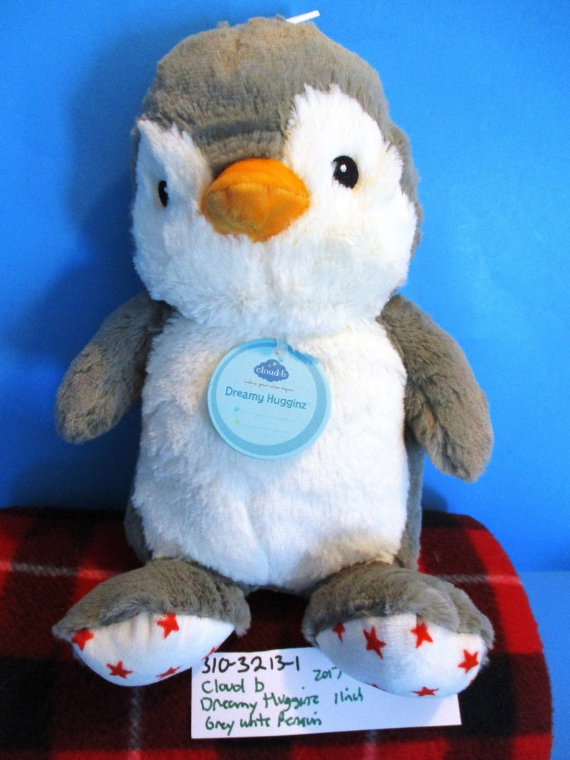 Cloud B Dreamy Hugginz Grey and White Penguin 2017 Plush