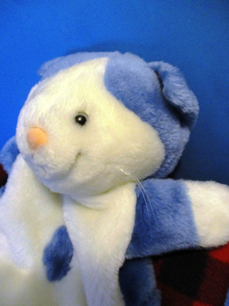 Blue and White Cat Plush Backpack