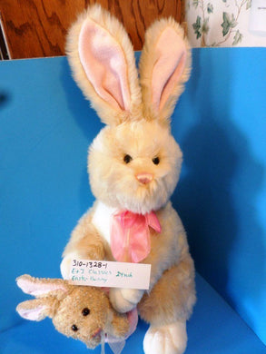 E & J Classics Tan and White Easter Bunny Rabbit Plush