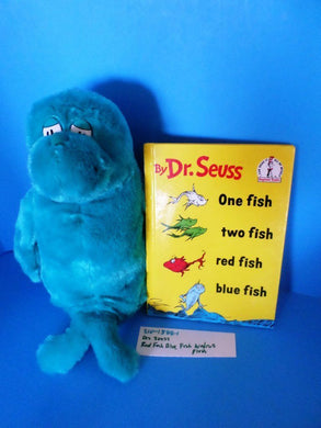 Kohl's Dr Seuss One Fish Two Fish Blue Walrus plush and book(310-1588-1)